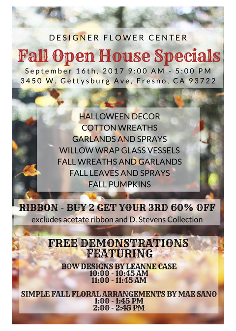 Fall Open House Specials without Discount