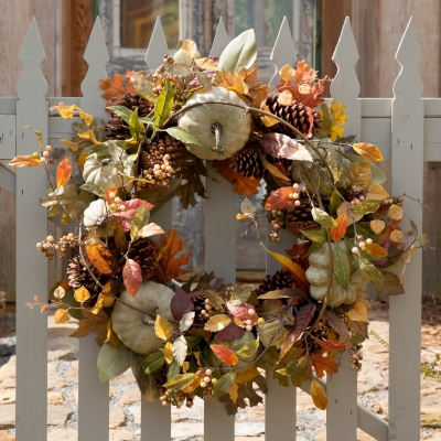 Artisan pumpkin wreath