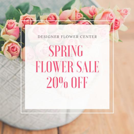 Spring Flower Sale 20 OFF